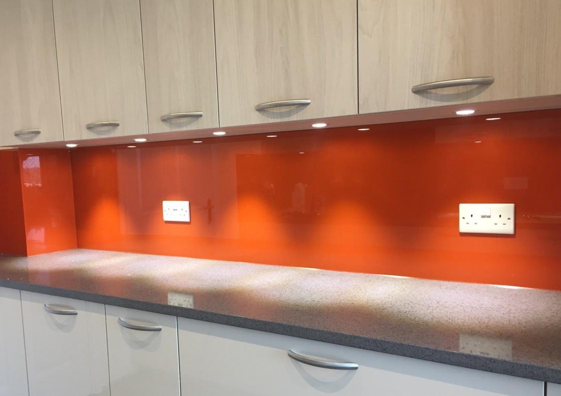 Orange Coloured Glass Splashbacks