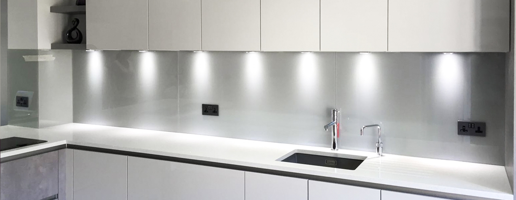 White Painted Glass Splashbacks