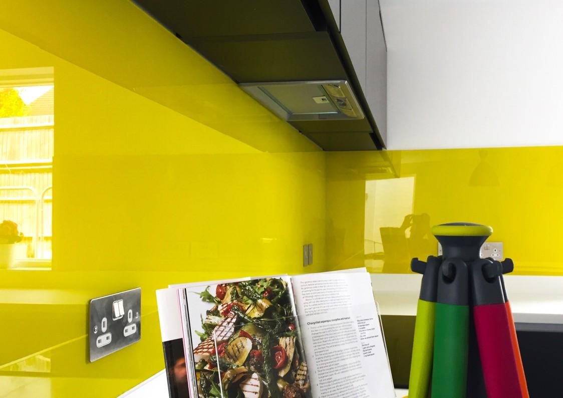 Yellow Coloured Glass Splashbacks