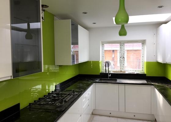 Painted Kitchen Glass Splashback