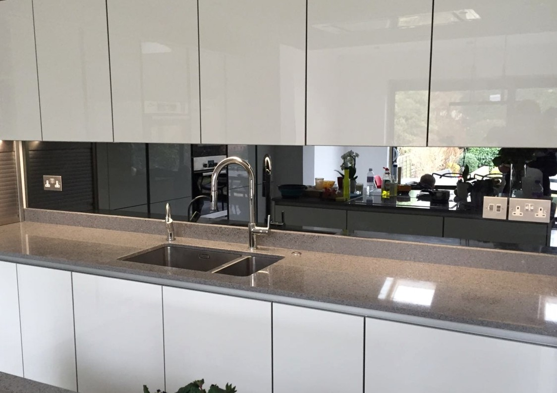 Kitchen Mirror Glass Splashback