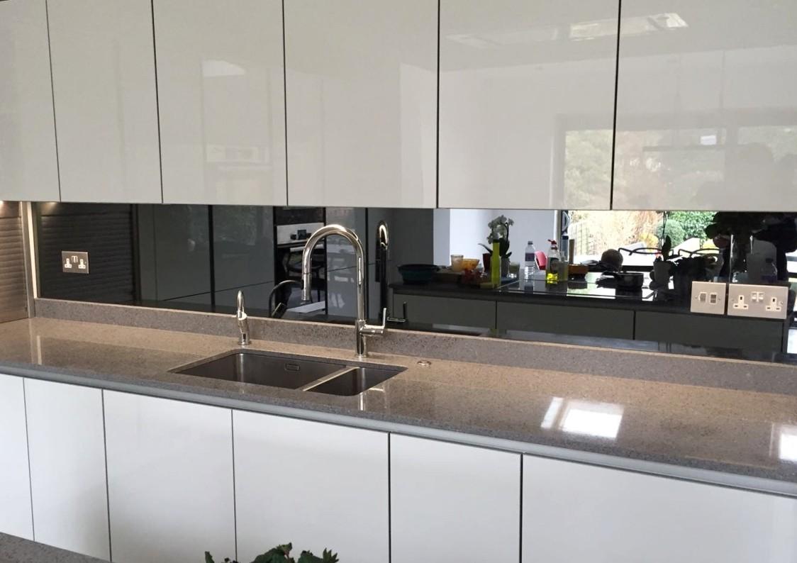 Kitchen Mirror Glass Splashback