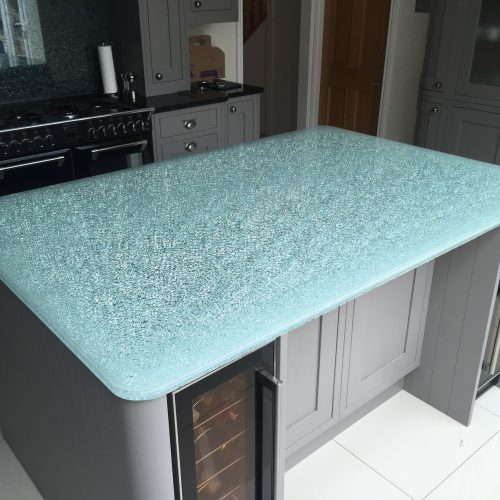 Wonderful Crackle Glass Table Top